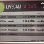 Sendeplan der Livecam Shows